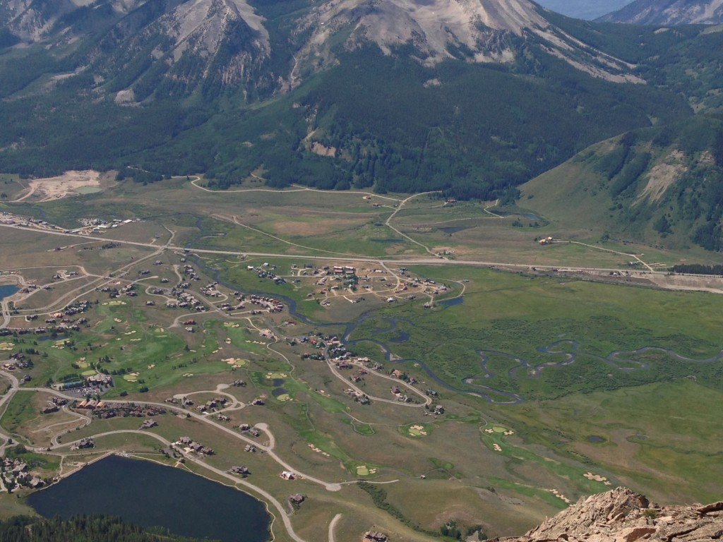 Aerial Image of Skyland from Mt. Crested Butte