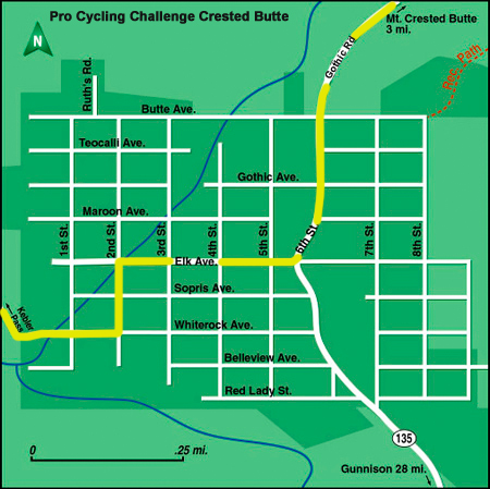Crested Butte Real Estate Pro Cycling Challenge Map