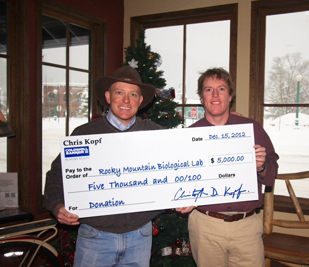 Rocky Mountain Biological Lab Donation