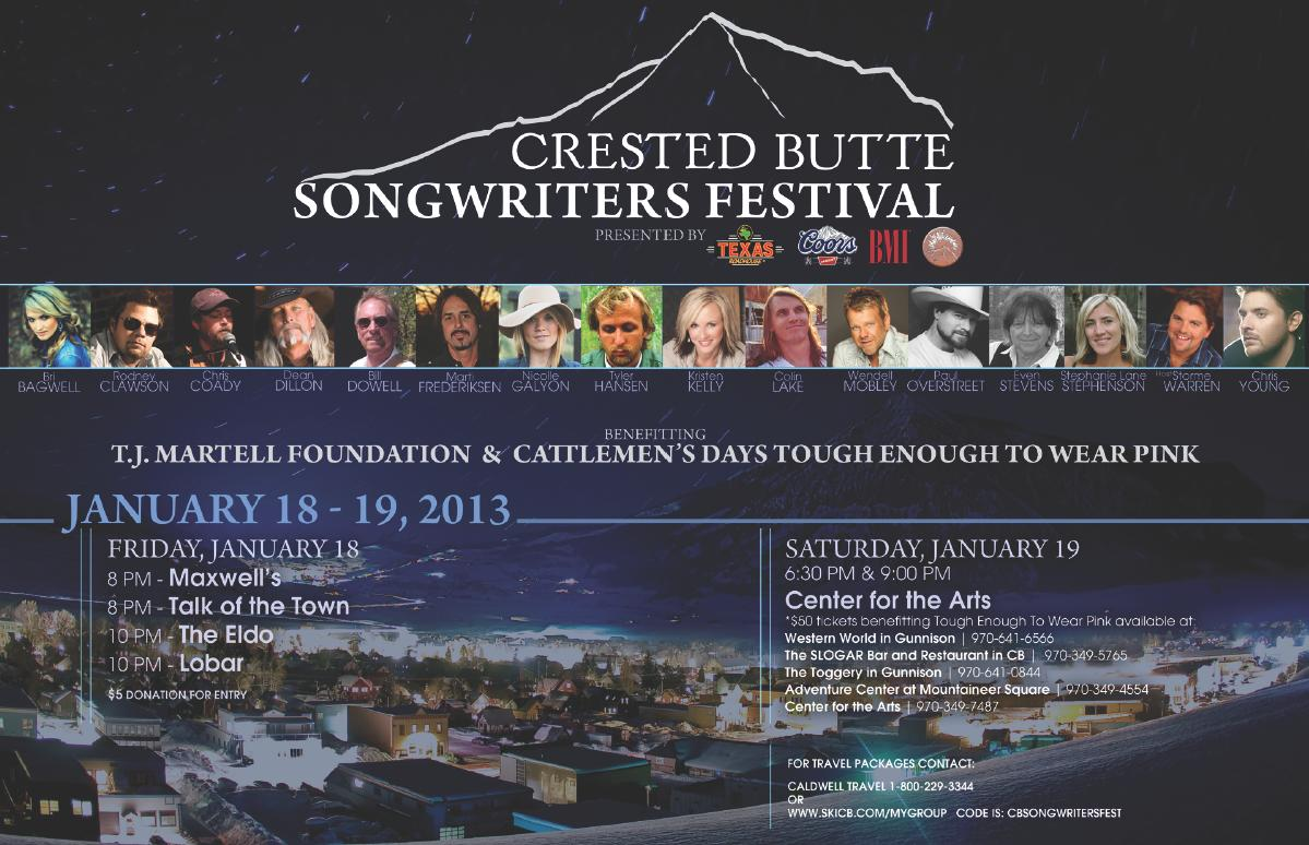 Crested Butte Songwriters Festival