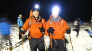 Elk Mountain Grand Traverse start in Downtown Crested Butte at midnight