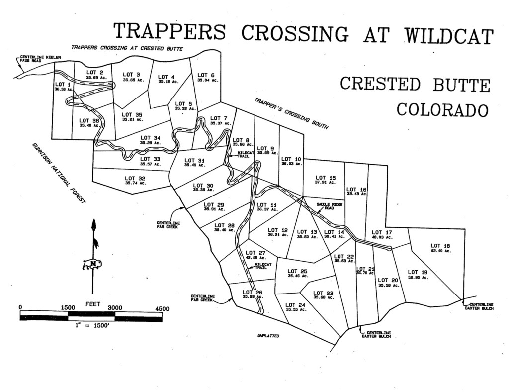 Trappers Crossing at Wildcat Crested Butte Parcel Map