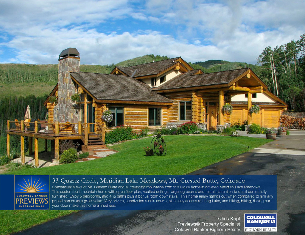 33 Quartz Circle Luxury Crested Butte Home