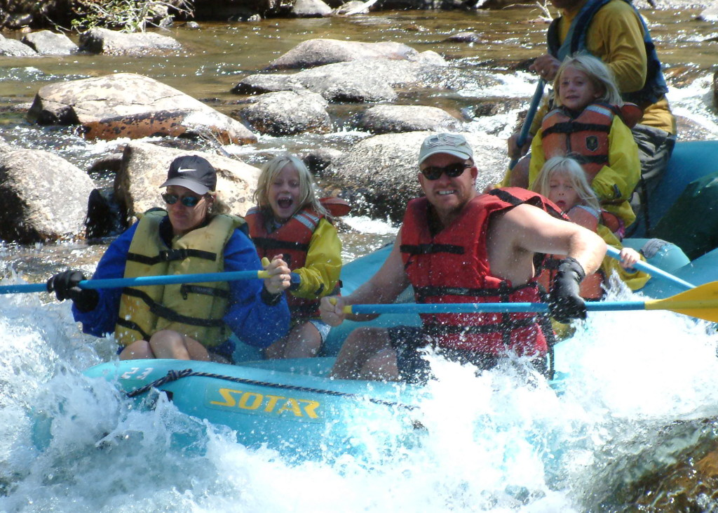 Family fun rafting Crested Butte