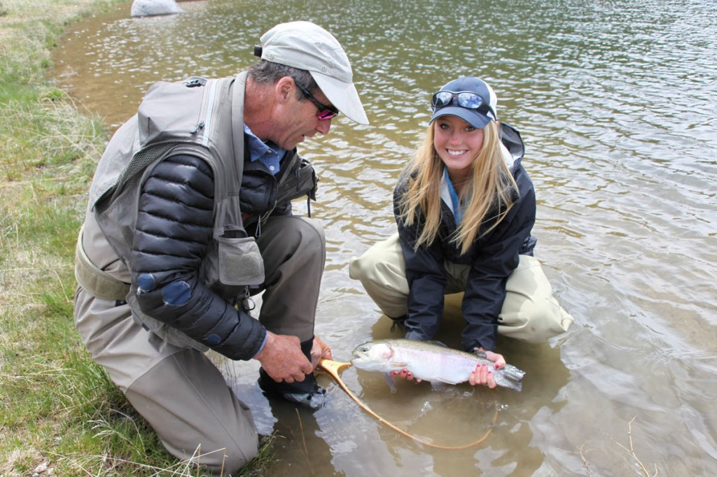 Wilder on the Taylor Rainbow Trout