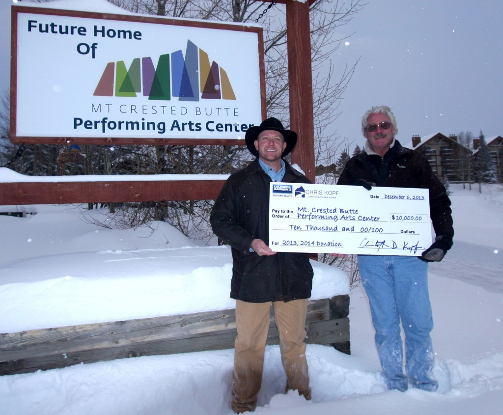 Chris Kopf Donation Mt. Crested Butte Performing Arts Center