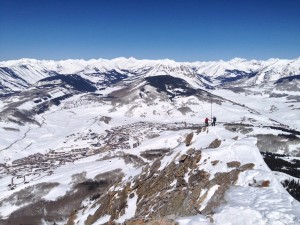 Top of Mt. Crested Butte Wintere