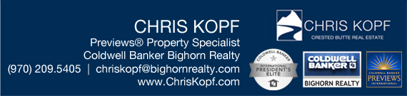Chris Kopf Crested Butte Real Estate Agent