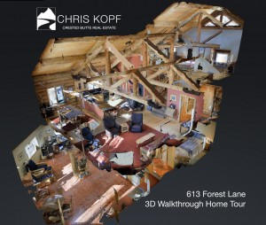 New 3D Walkthrough Home Tour 613 Forest Lane Crested Butte