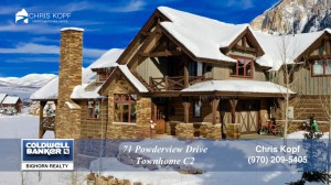 Sold: 71 Powderview Drive Crested Butte