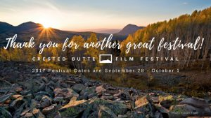 Crested Butte Film Festival Another Huge Success