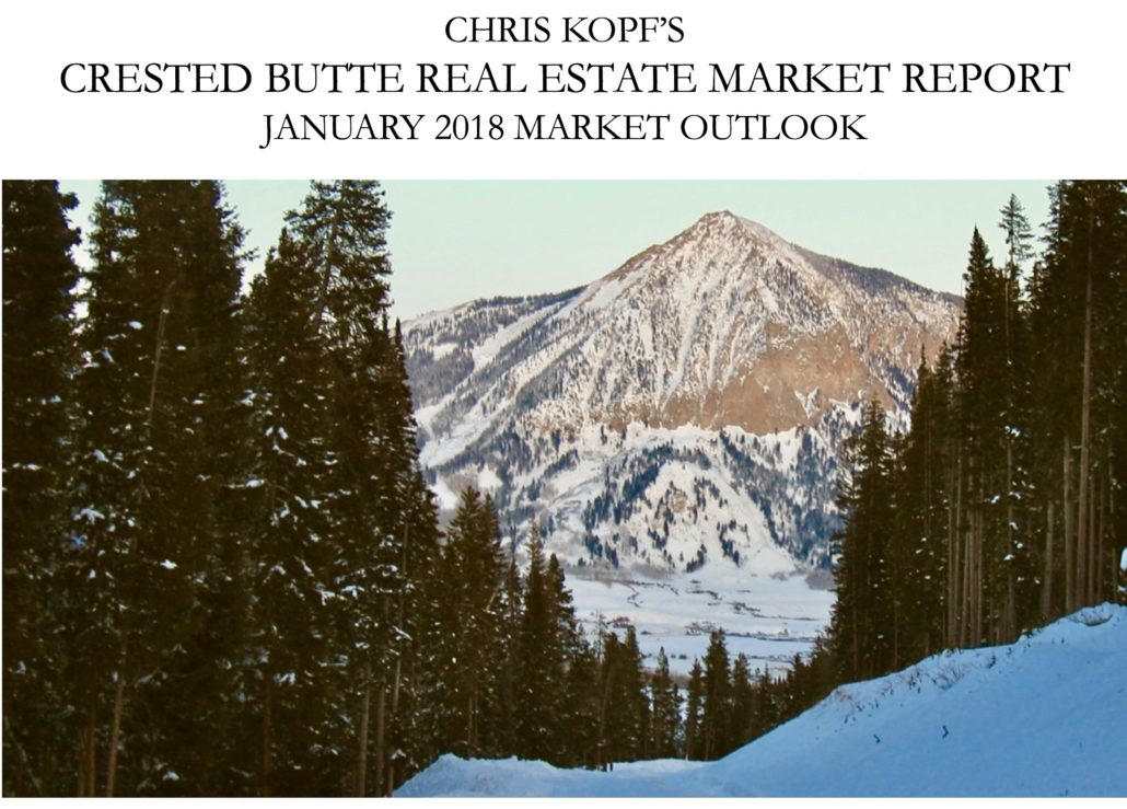 January 2018 Crested Butte Real Estate Market Outlook
