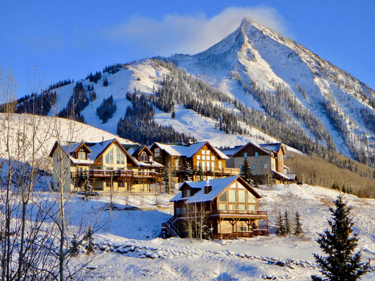 Skiing Up in Crested Butte