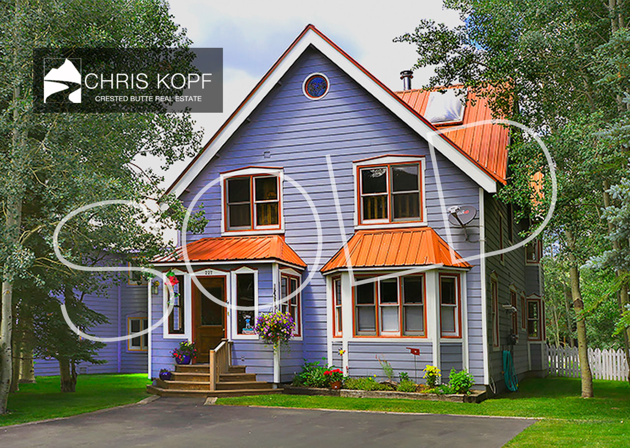 Just Sold Downtown Crested Butte Home