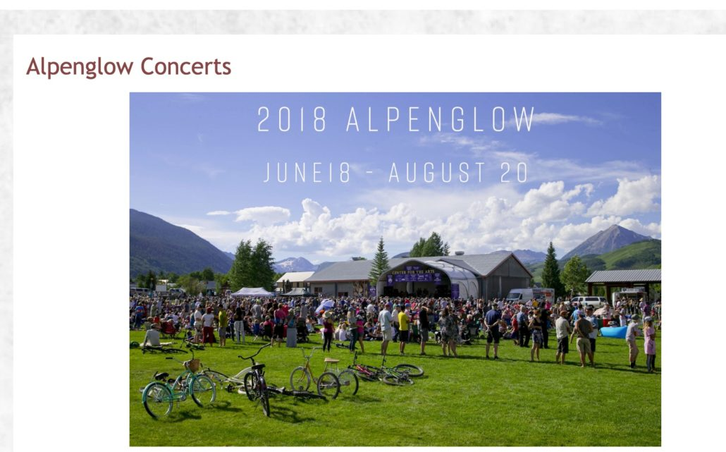 Crested Butte Monday Alpenglow Concerts Are Special