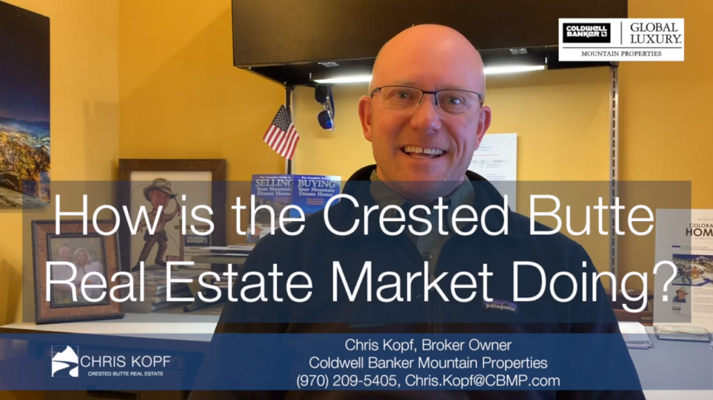 Crested Butte Real Estate Market Report YTD March 2019