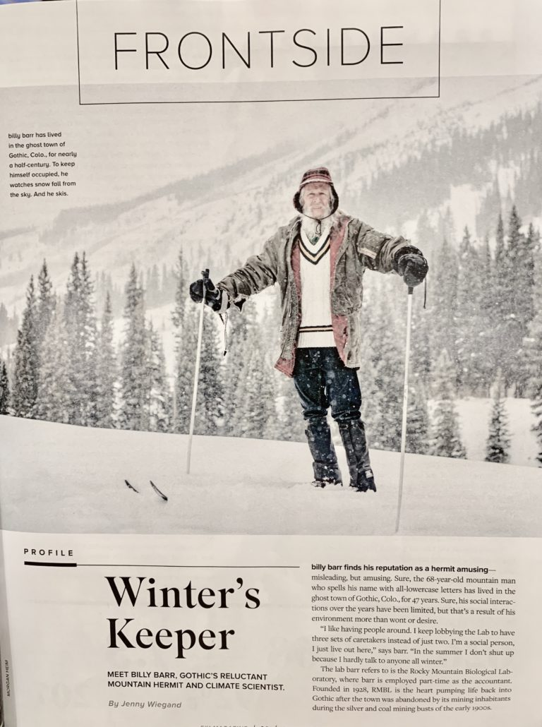 RMBL Billy Barr in SKI Magazine