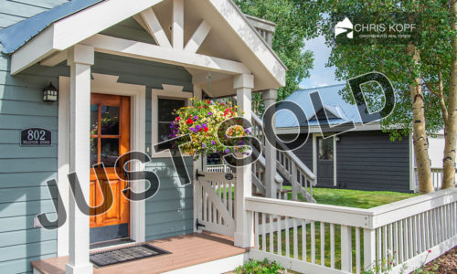 Just Sold 802 Belleview Ave Downtown Crested Butte